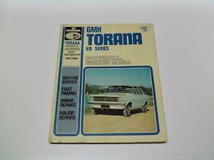 SP Manual No 72 GMH Torana HB Series Workshop Manual 1967/1969