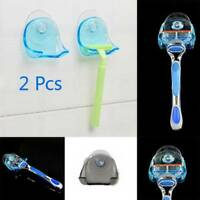 2* Shaver Toothbrush Holder Washroom Bathroom High Power Suction Cup Hook Home