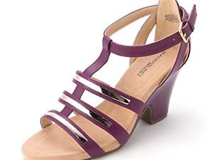 Banolino Baruca  sandals/heels  purple size 9