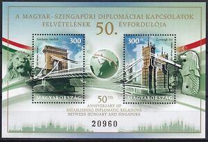 Hungary 2020 Architecture Bridges MNH Block