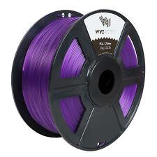 Translucent Purple PLA 1.75mm WYZworks 3D Printer Premium Filament 1kg/2.2lb