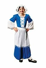 CHILDS BLUE TUDOR GIRL FANCY DRESS COSTUME OUTFIT TO FIT AGES 10 11 12 U20 086