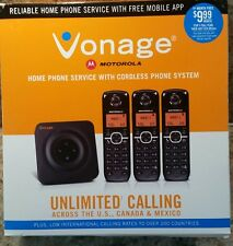 Vonage HT802-CVR Service Plus Cordless Phone System Motorola  NEW