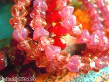 Nuevas pequeñas brillante Pink Rose Bellflower-perlas m. Gold-finish - 30stk. -