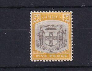JAMAICA 1904 5d Grey and Yellow SG36 (light crease at top) LMM