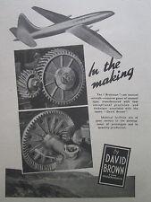 6/1946 PUB DAVID BROWN FOUNDRIES CASTINGS BRISTOL BRABAZON AIRLINER ORIGINAL AD