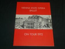 1972 Vienna State Opera Ballet Tour Program - Great Photos - J 5133