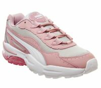 Womens Puma Cell Stellar Trainers Bridal Rose Gray Violet Trainers Shoes