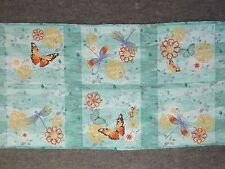 Elegant Butterflies Dagonflies & Flowers Lt Aqua Quilting Fabric #644