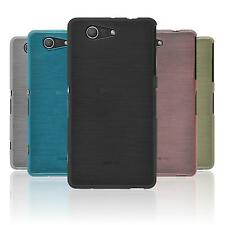Silicone Case for Sony Xperia Z3 Compact brushed  + protective foils