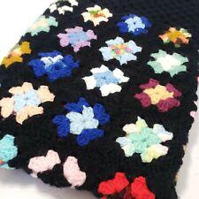 "Granny Square Handmade Afghan 54"" × 45"" Crochet Rosanne Sofa Blanket Throw"