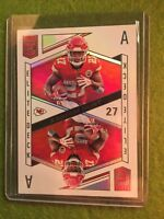 KAREEM HUNT PRIZM REFRACTOR CHIEFS 2018 Donruss Elite Deck #ED-9 SP Aces A's SSP