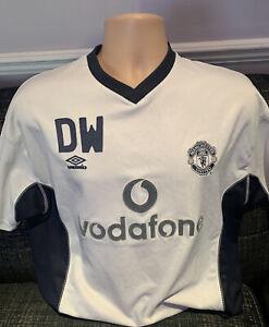 Manchester United Match Worn Players Issue Football Shirt Training Kit 2001