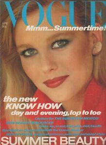 1980 June VOGUE 80s vintage fashion & beauty magazine