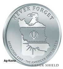 1 oz 2018 Operation Ajax BU - Never Forget #2 Silver Shield Inside Job 999