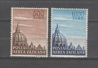 s37910 VATICANO 1953 MNH Posta Aerea Cupoloni I 2v
