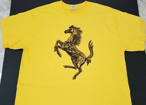Brand New FERRARI Horse T-shirt artistic prancing cavallino stallion exotic enzo