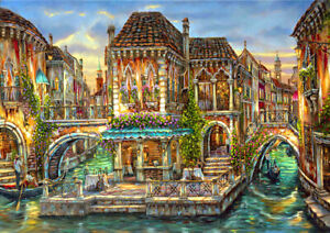 Canvas Print Wall Art Painting Venice Italy Landscape HD Picture Home Decor Gift