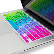 "PASBUY Silicone Keyboard Skin Cover for Apple MacBook Pro Air13"" 15"" 17"" Rainbow"