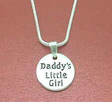 Daddy's Little Girl Necklace Charm Pendant and chain daddy daughter daddys