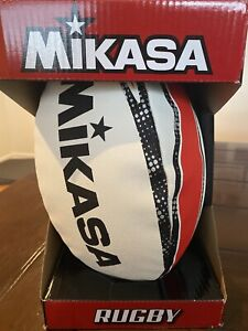 🔥BRAND NEW IN BOX! Mikasa RNB 7 kick off Rugby ball white/black/red World Cup