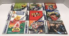 Lot Of 10 Nintendo Gameboy Color Game Manuals & 5 GBC Consumer Inserts
