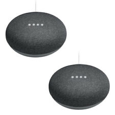 2x Google Home Mini Charcoal Smart Speaker Sprachassistent Bluetooth WLAN Bundle