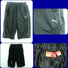 Puma men Athletic Shorts Mesh Lined cinched legs Black sz Md