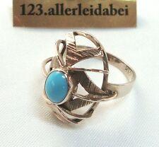 Nobler Türkis Ring 333 er Rosegold Handarbeit Türkisring Rotgold / AO 857
