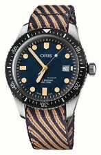 Oris Divers Sixty-Five Recycled Textile Strap Blue Dial Mens Watch