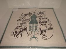 """Pottery Barn Dress Form Mannequin 18"""" Pillow Cover NIP Teen Fashion Beauty Style"""