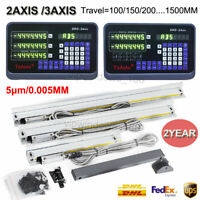 2/3 Axis Digital Readout DRO TTL Linear Glass Scale Encoder for Milling Lathe