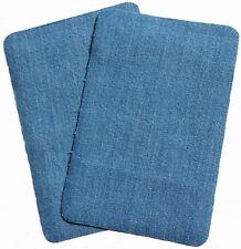 2 Bügelflicken Jeansflicken Flicken 10,0 x15,0 cm Jeans hell 100%Baumwolle 60018