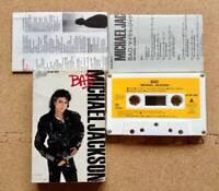 Michael Jackson BAD 1987 Japanese version cassette tape Liner & lyrics card incl