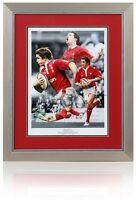 Large Shane Williams WALES Rugby WRU Hand Signed Montage AFTAL Photo Proof COA