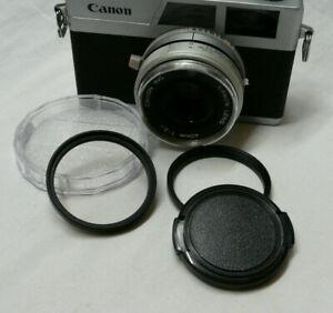 Canon Canonet 28, GIII QL17 & GIII QL19 Step Up Ring, UV Filter & Lens Cap