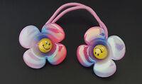 Regenbogen Lustige Smiley Kinder Mädchen Haargummi Zopf Gummi Band Haarschmuck
