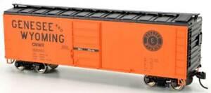 Bowser HO Scale 40' Single-Door Steel Boxcar Genesee & Wyoming/G&W #100022