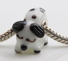 1pcs MURANO GLASS BEAD LAMPWORK Fit European Charm Bracelet DWO288 lovely Animal
