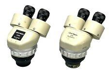 Unitron Zsb Stereozoom Microscope Head Lot Of 2