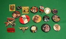 Van Halen Iron Maiden Led Zepplin Judas Priest Enamel Lapel Pin Button