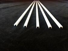 Paquete De 5 Plastruct u Sección 4.6 X 6.4 X 375 Mm Ideal Para Modelos ufs-8