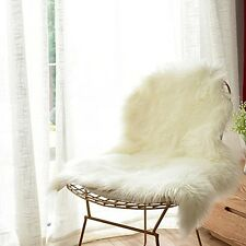 Sheepskin Chair Cover Seat Luxury Soft Faux Carvapet Pad Plush Fur Area Rugs New
