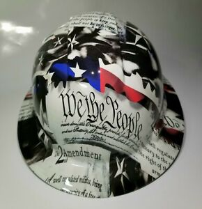 NEW FULL BRIM Hard Hat custom hydro dipped 2ND AMENDMENT IN YOUR FACE EDITION