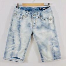 Miss Me Jeans Shorts Size 30 Irene Bermuda Acid Wash Blue New