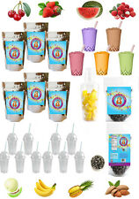 The ULTIMATE DIY Boba Tea Kit 60 Drinks 6 CUSTOM Flavors* Buddha Bubbles Boba