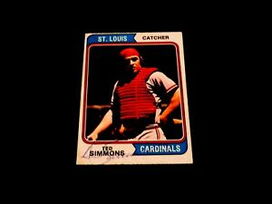 Ted Simmons 1974 Topps #260 AUTOGRAPHED HOF ST. LOUIS CARDINALS Vintage 70s Auto