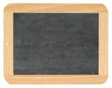 Schiefertafel mittelgroß 19 x 24 mit Holz Rahmen Schule Schulbedarf Schreibtafel