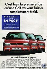 Publicité advertising 1996 VW Volkswagen Golf