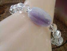 Healing Crystal Auralite 23 Satyaloka Azeztulite Beaded Bracelet